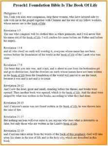 Scriptures to the Lamb's book of life